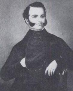 Vallejo en su juventud. Fotografía de 1841 (se trata de una de las 10 fotografías más antiguas en Commons). Wikipedia.